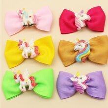 6pcs Baby Unicorn Decor Hair Clip