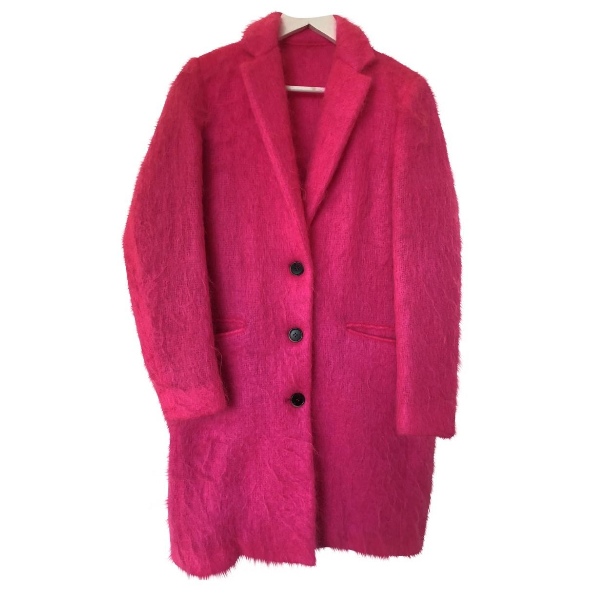 Msgm \N Pink Wool coat for Women 40 IT