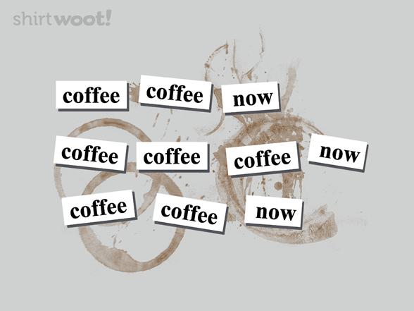 A Coffee Haiku T Shirt