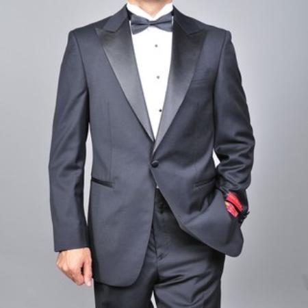 Mens Wool Onebutton Tuxedo