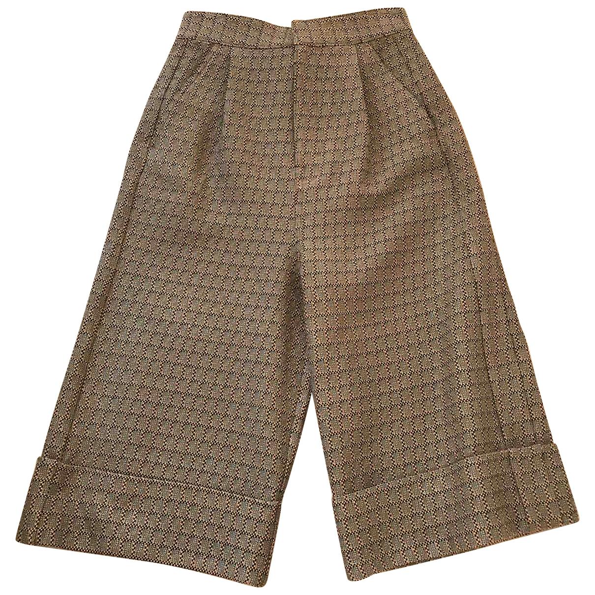 Maison Martin Margiela \N Brown Trousers for Women 38 IT
