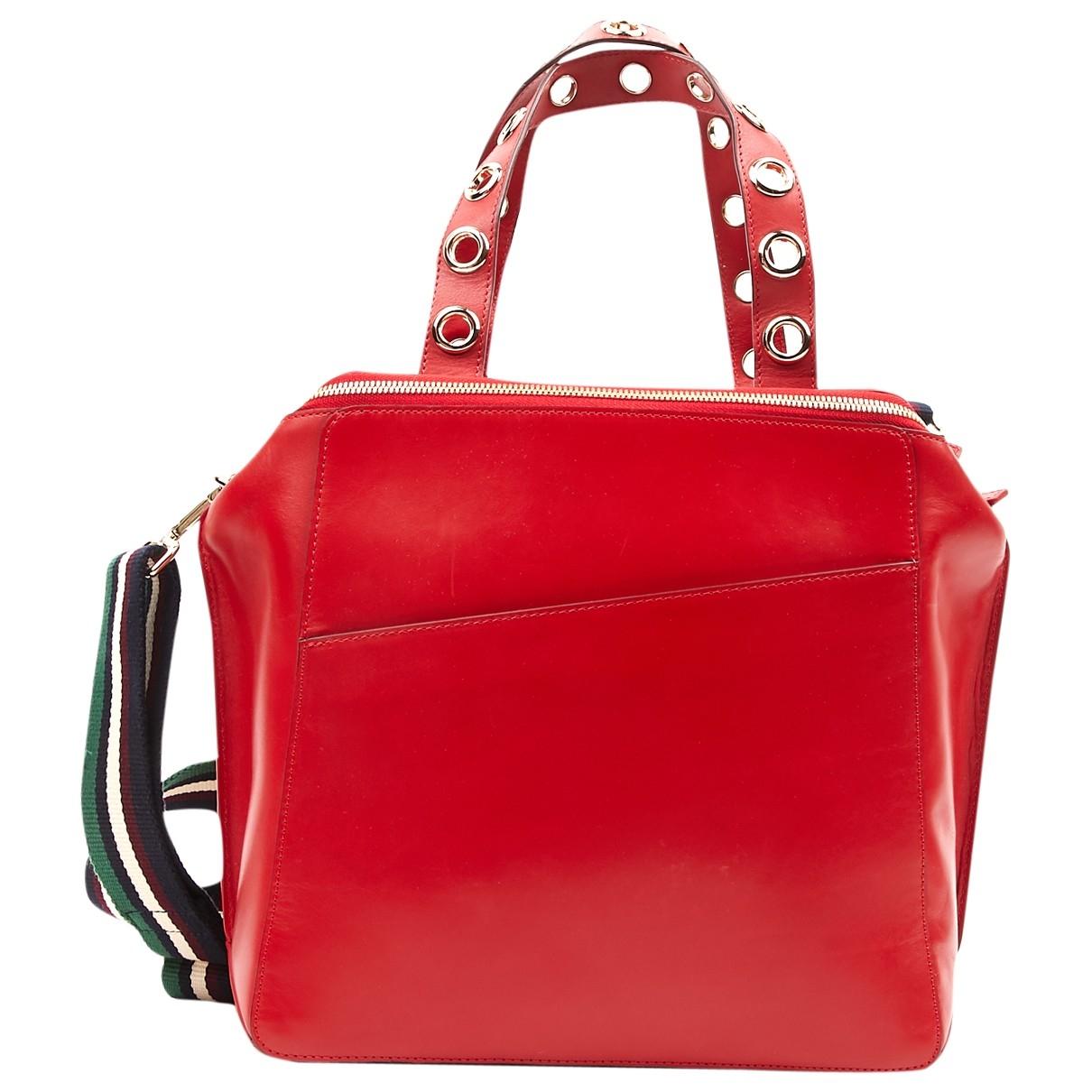 Baum Und Pferdgarten \N Red Leather handbag for Women \N