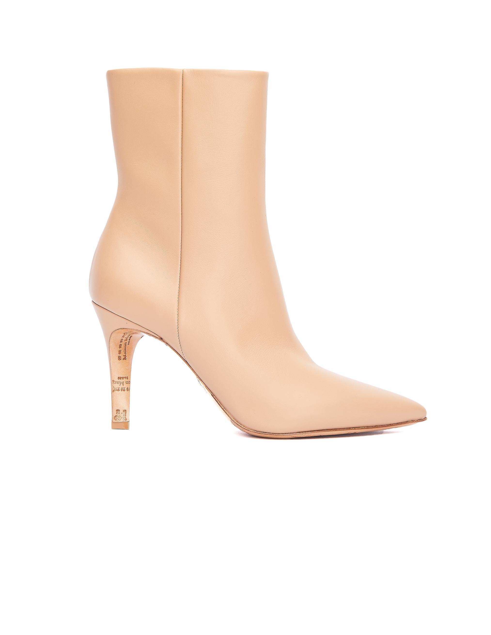 Maison Margiela Beige Leather Ankle Boots