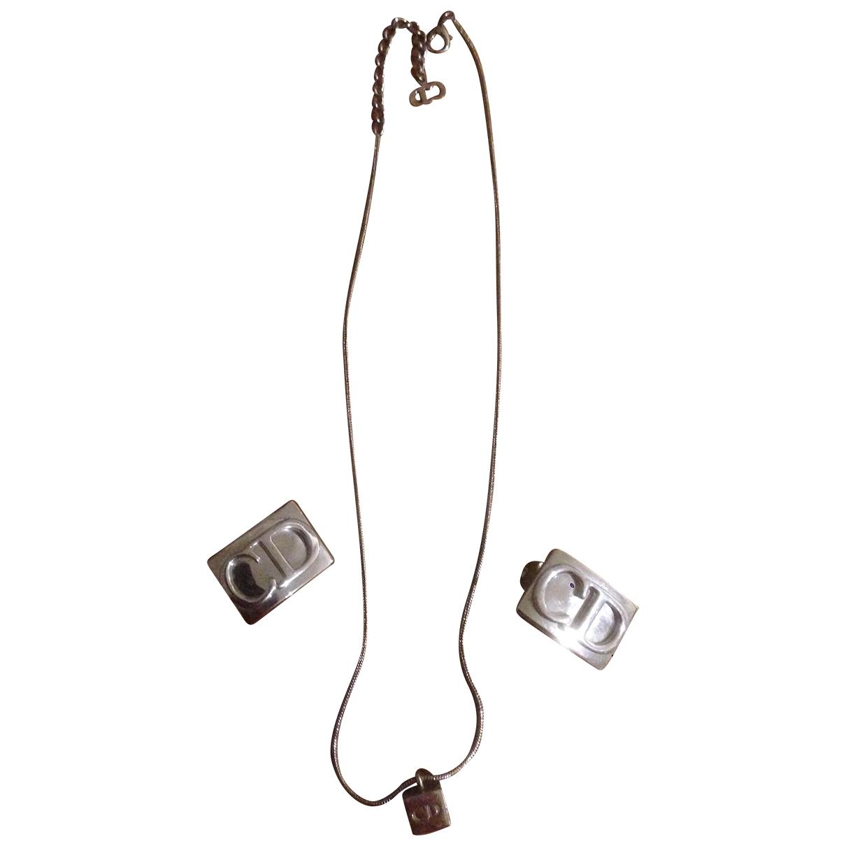 Dior Monogramme Schmuck-set in  Silber Stahl