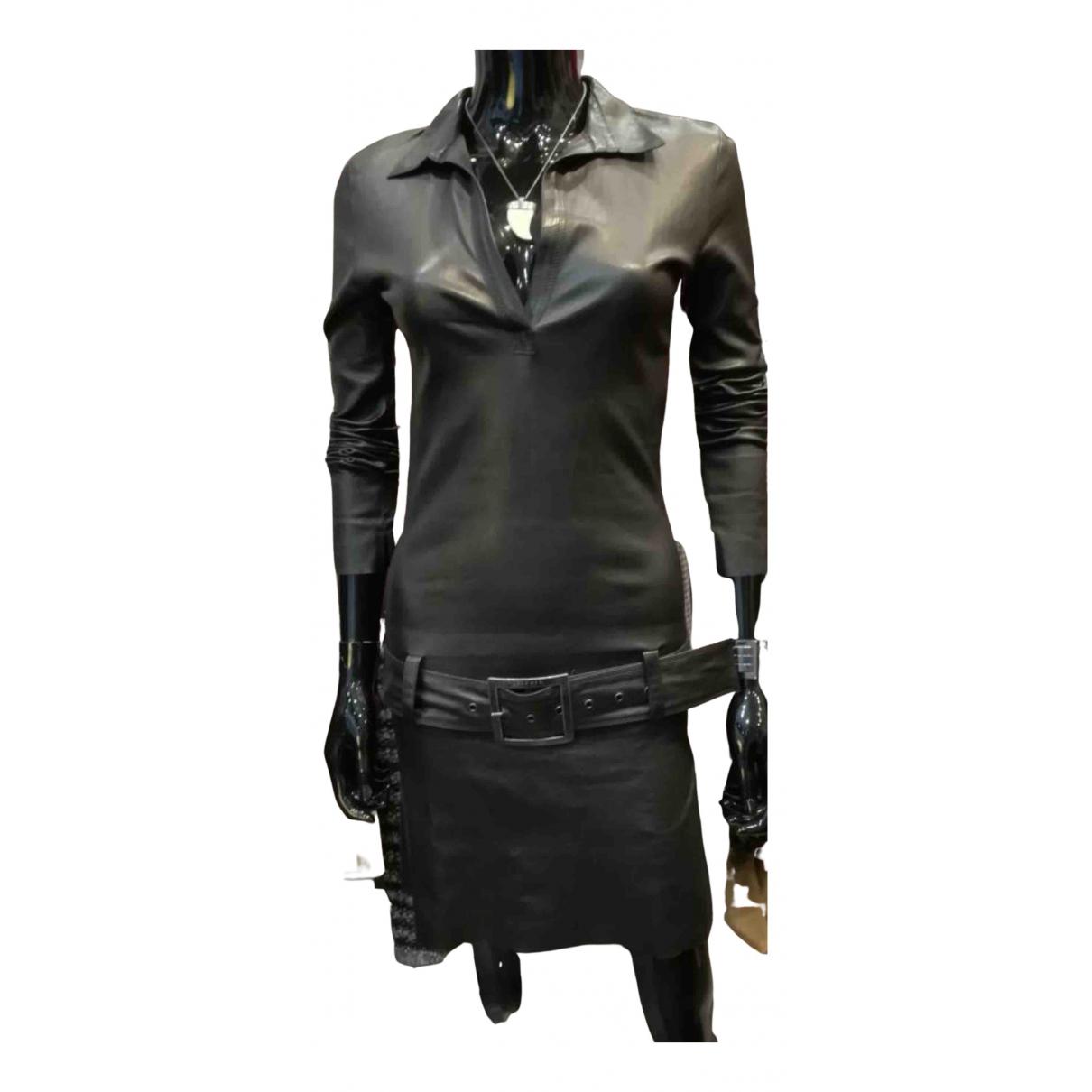 Jitrois - Robe   pour femme en cuir - noir