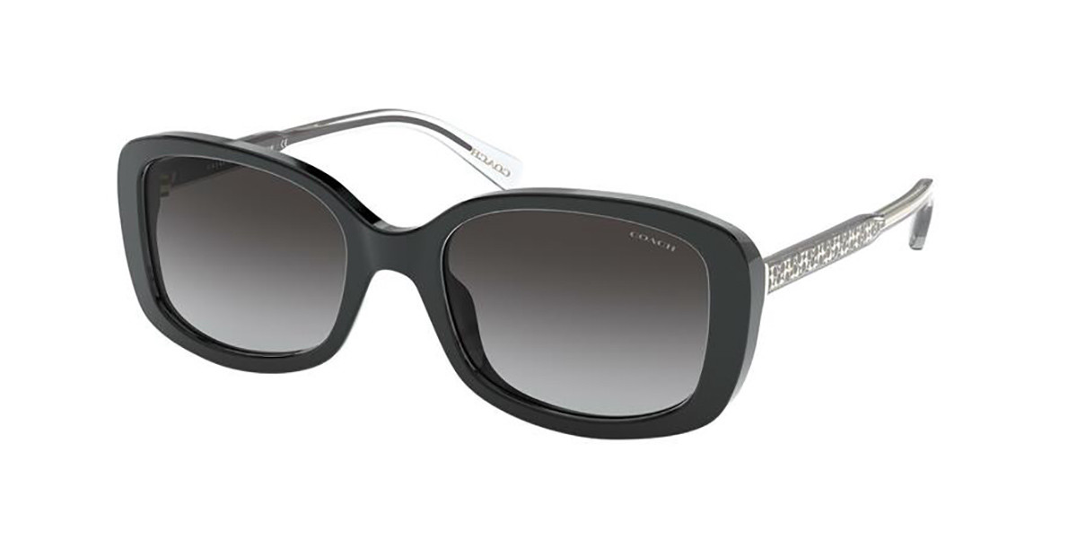 Coach HC8278F Asian Fit 50028G Women's Sunglasses Black Size 55