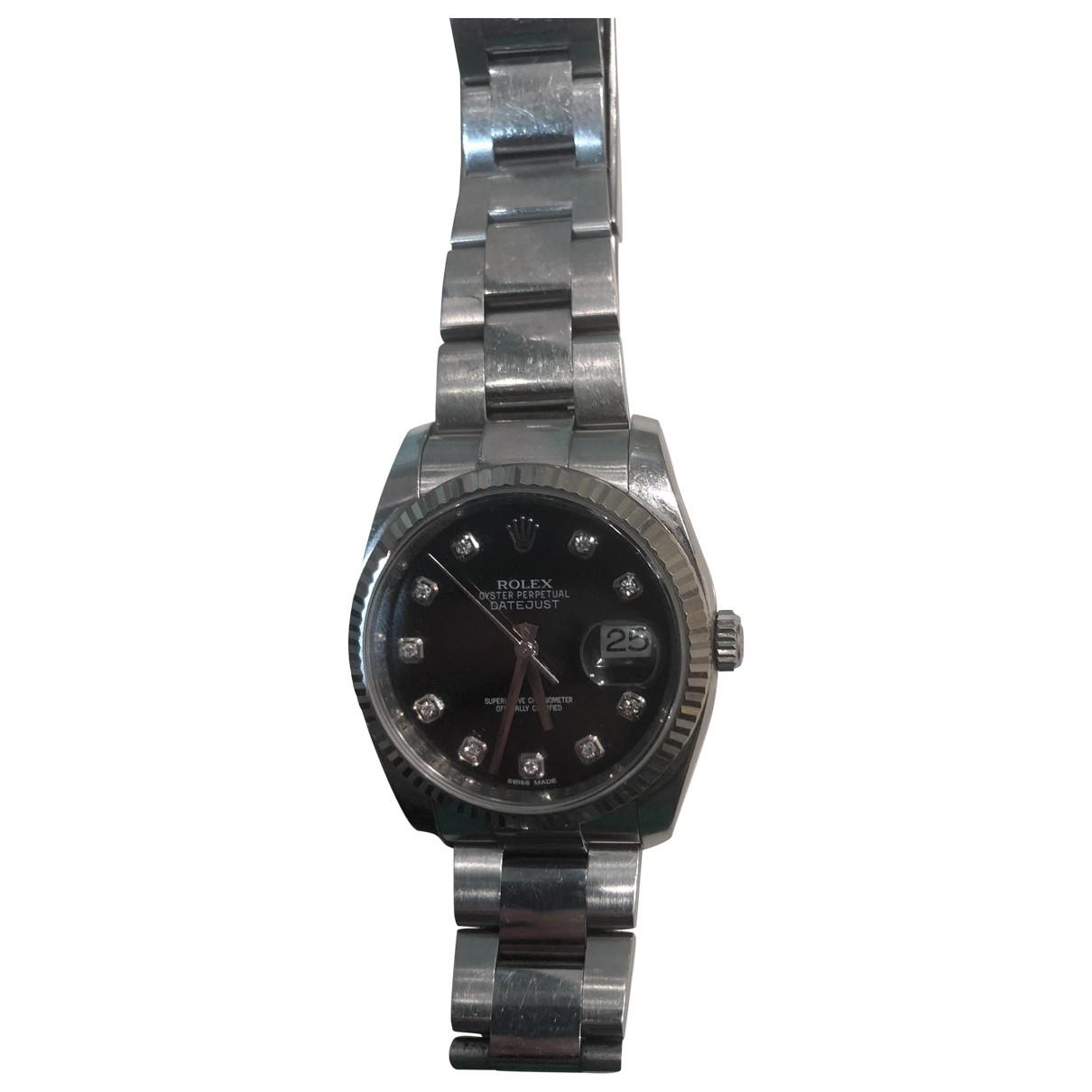 Rolex Oyster Perpetual 34mm Blue Steel watch for Women \N