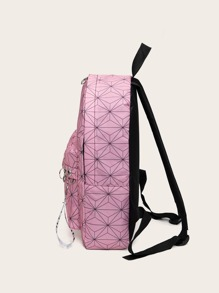 Geometric Graphic Curved Top Backpack