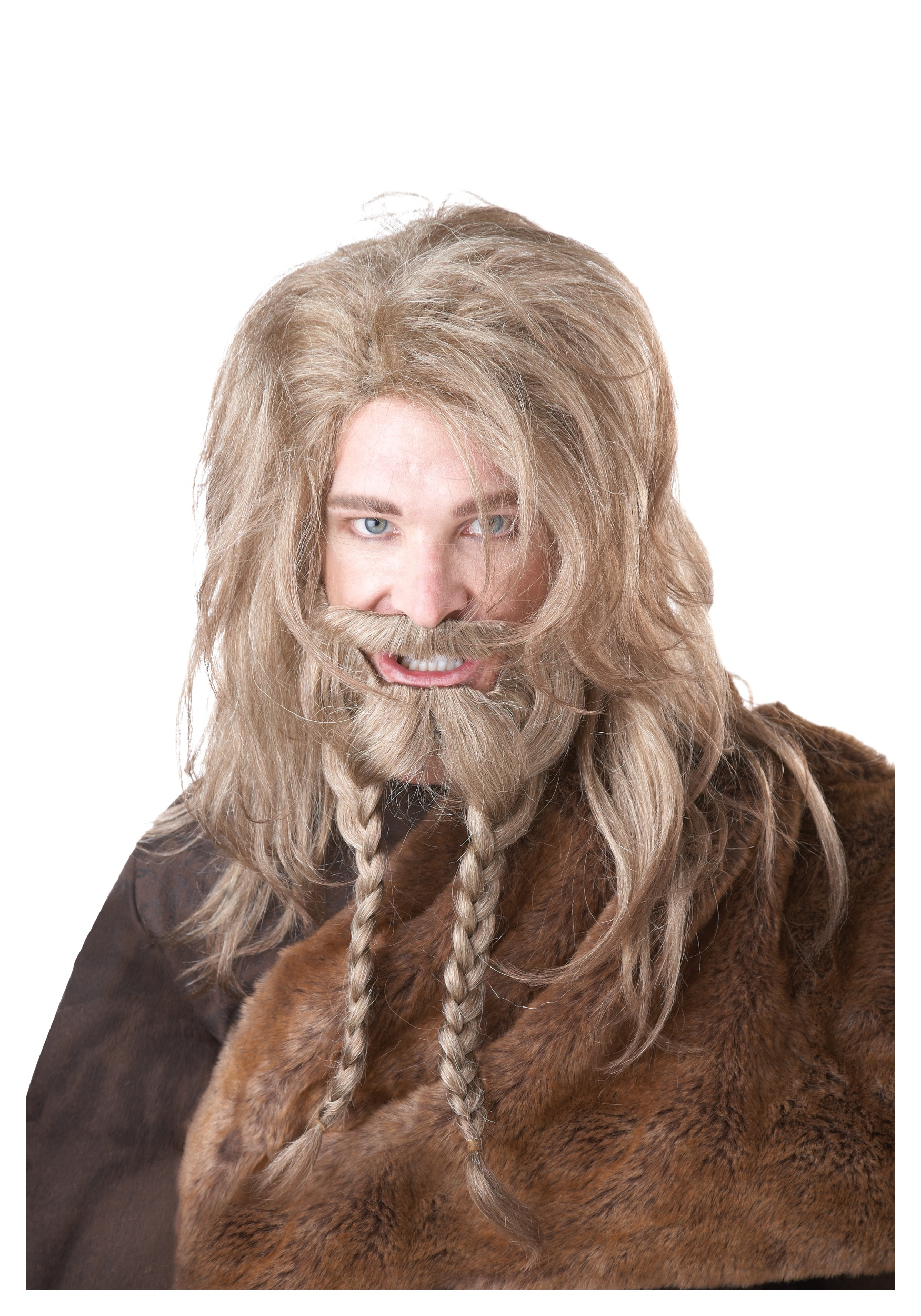 Men's Blonde Viking Wig, Beard and Mustache