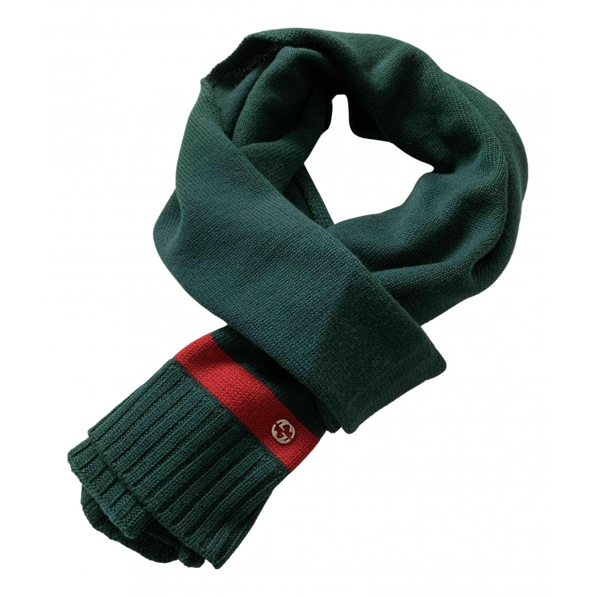 Gucci - Foulard   pour femme en laine - vert