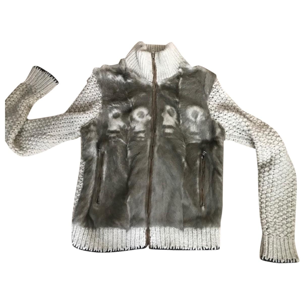 Prada \N Pullover in  Grau Wolle