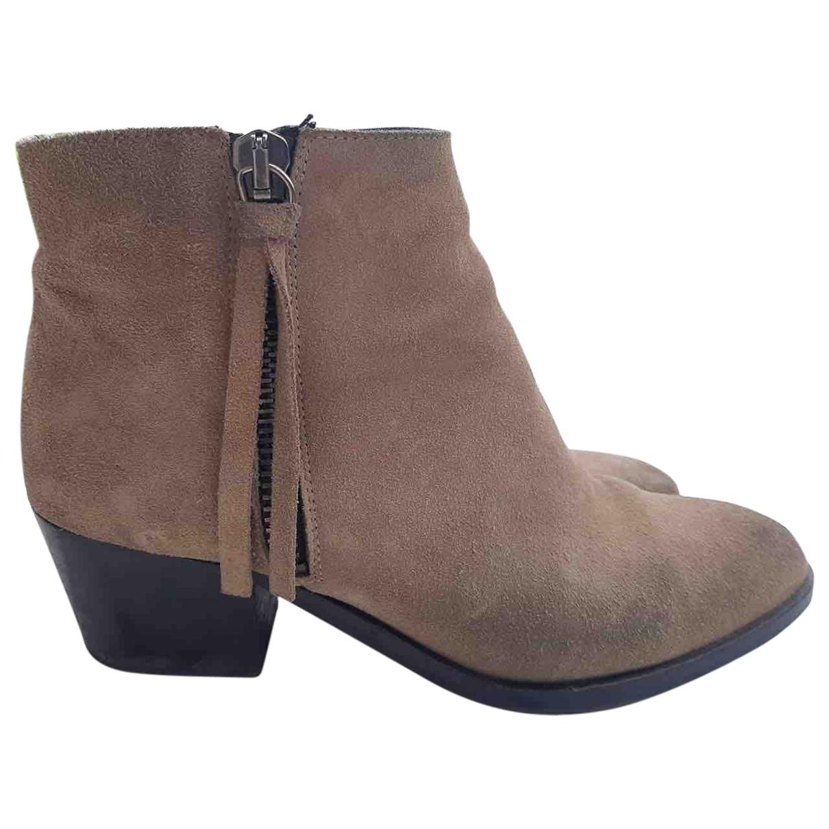 Bimba Y Lola - Boots   pour femme en suede - beige