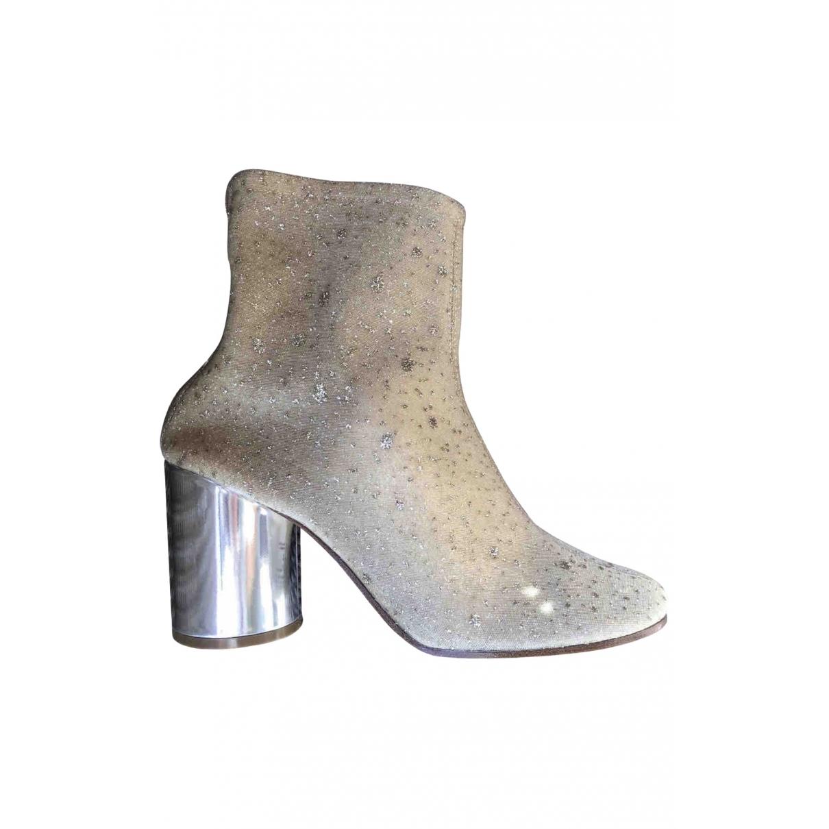 Maison Martin Margiela \N Gold Glitter Ankle boots for Women 39 EU