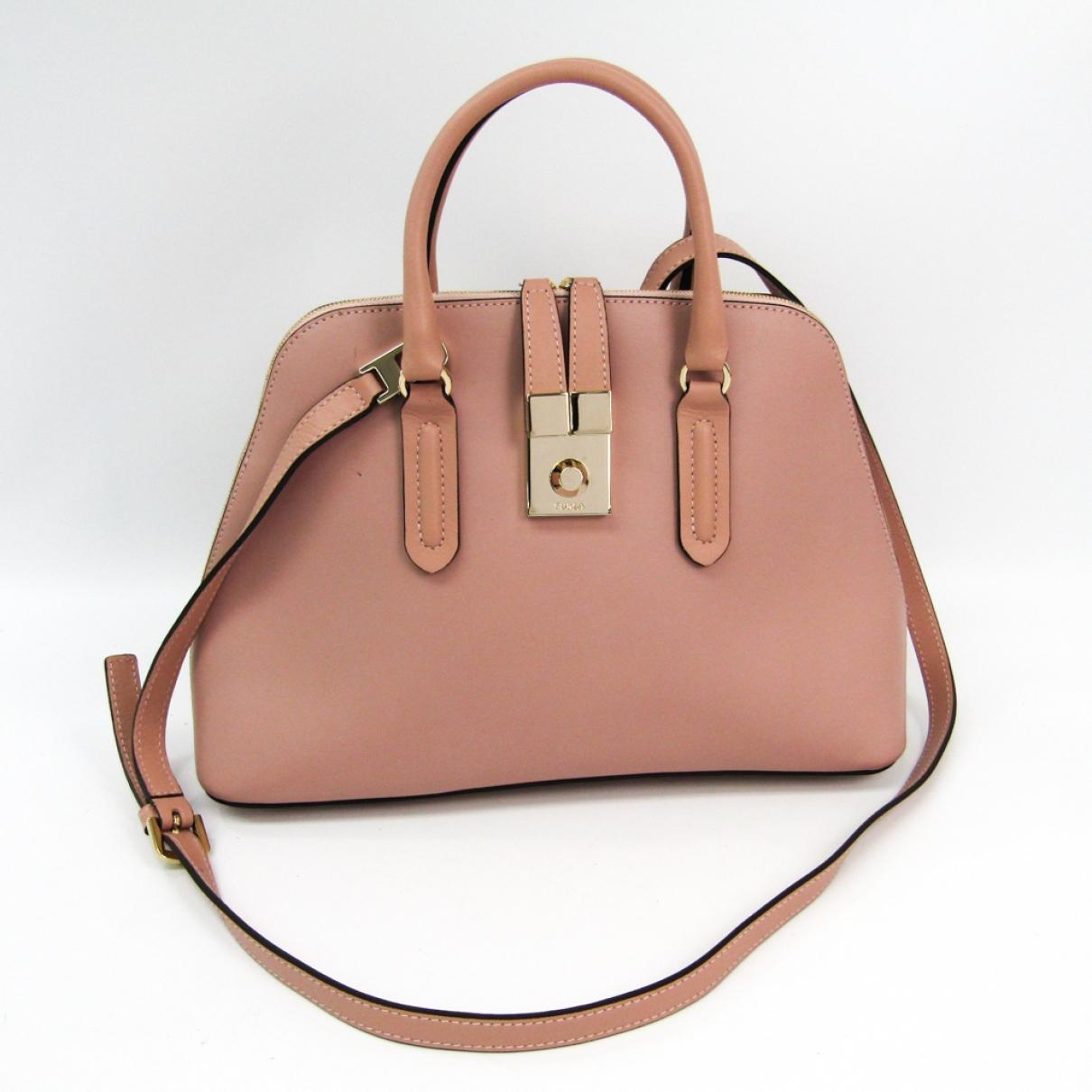 Furla \N Pink Leather handbag for Women \N