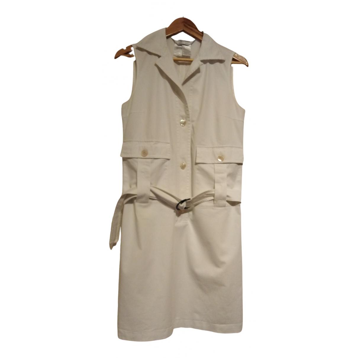 Max Mara \N Kleid in  Weiss Baumwolle