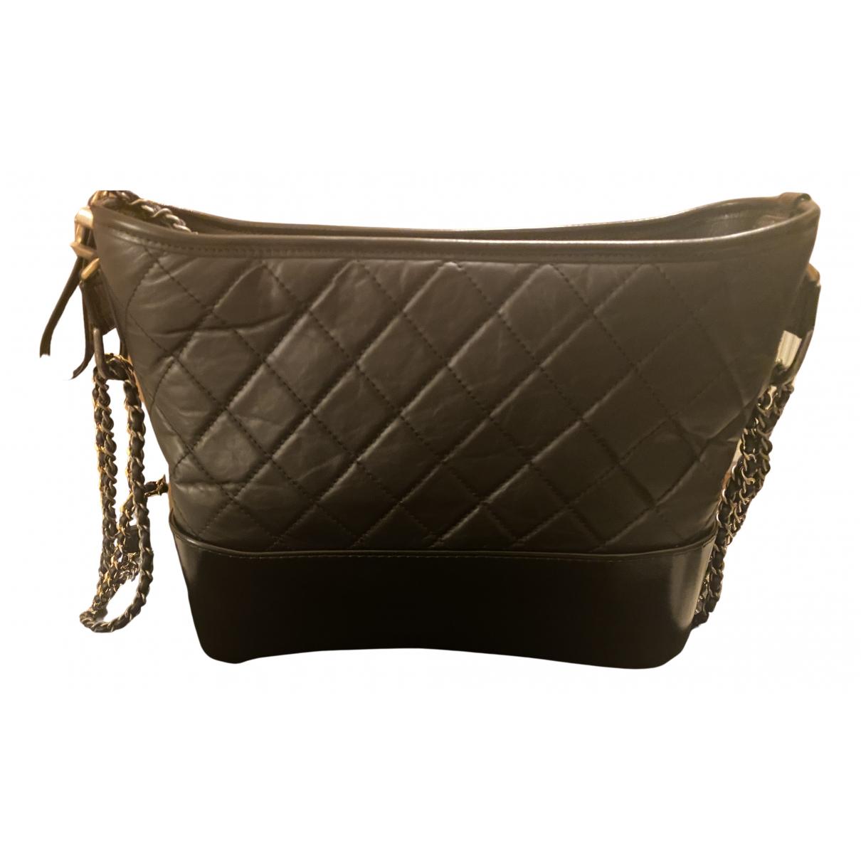 Chanel Gabrielle Black Leather handbag for Women N