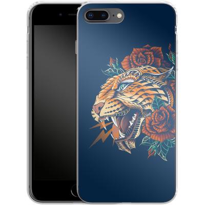 Apple iPhone 8 Plus Silikon Handyhuelle - Ornate Leopard von BIOWORKZ