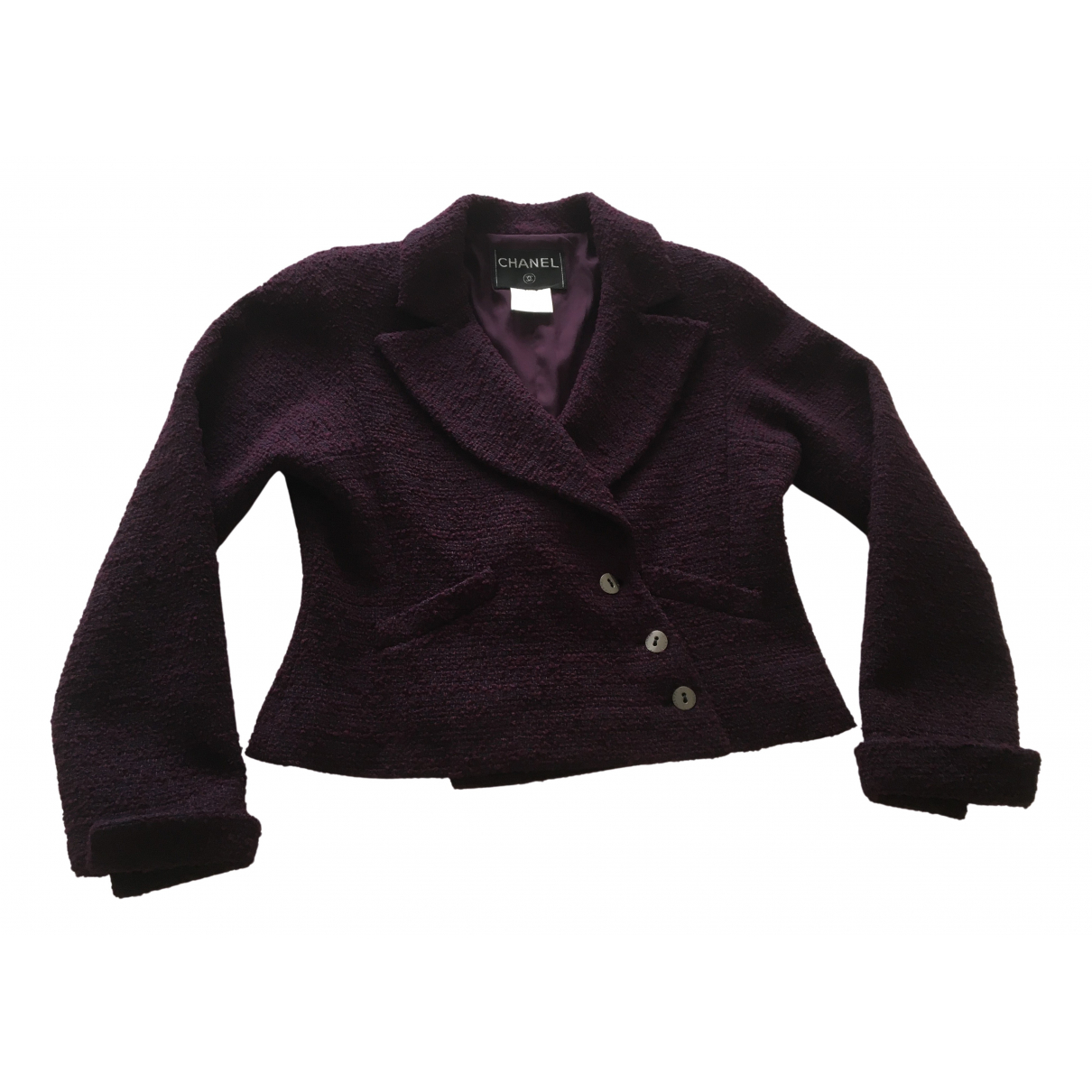 Chanel \N Burgundy Wool jacket for Women 42 FR