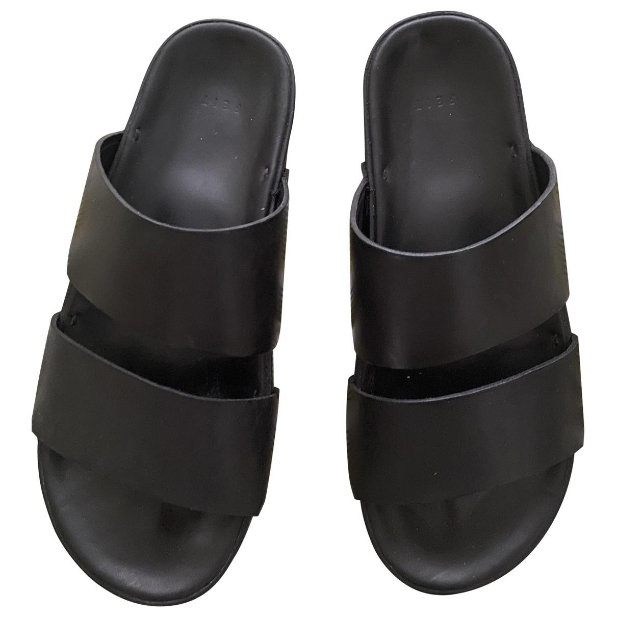 Feit \N Sandalen in  Schwarz Leder
