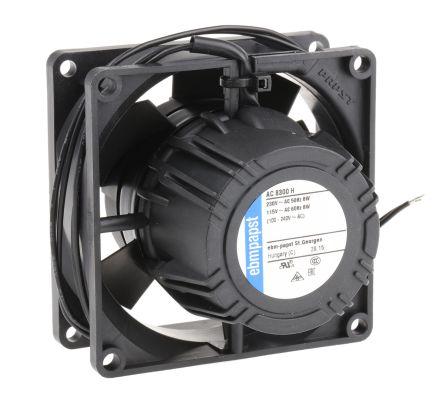 ebm-papst , 85 → 265 V ac, AC Axial Fan, 80 x 80 x 32mm, 80m³/h, 8.3W