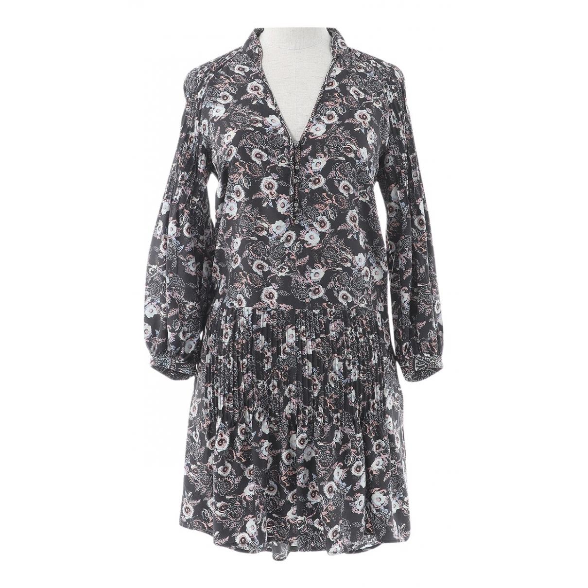 Veronica Beard \N Kleid in  Grau Seide