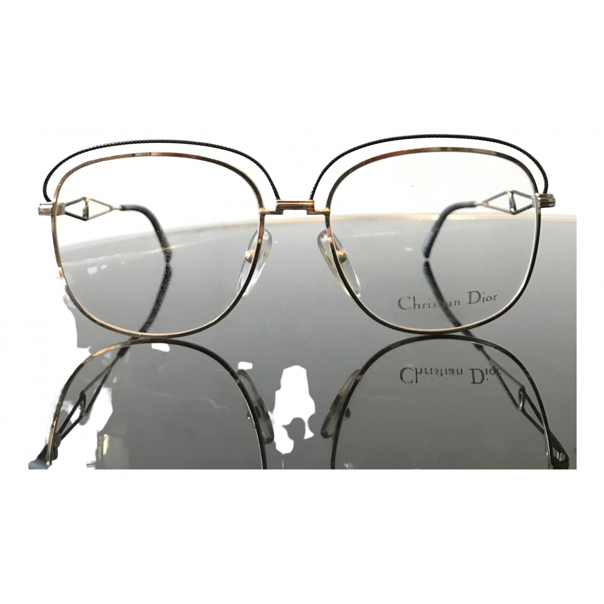 Dior N Gold Metal Sunglasses for Women N