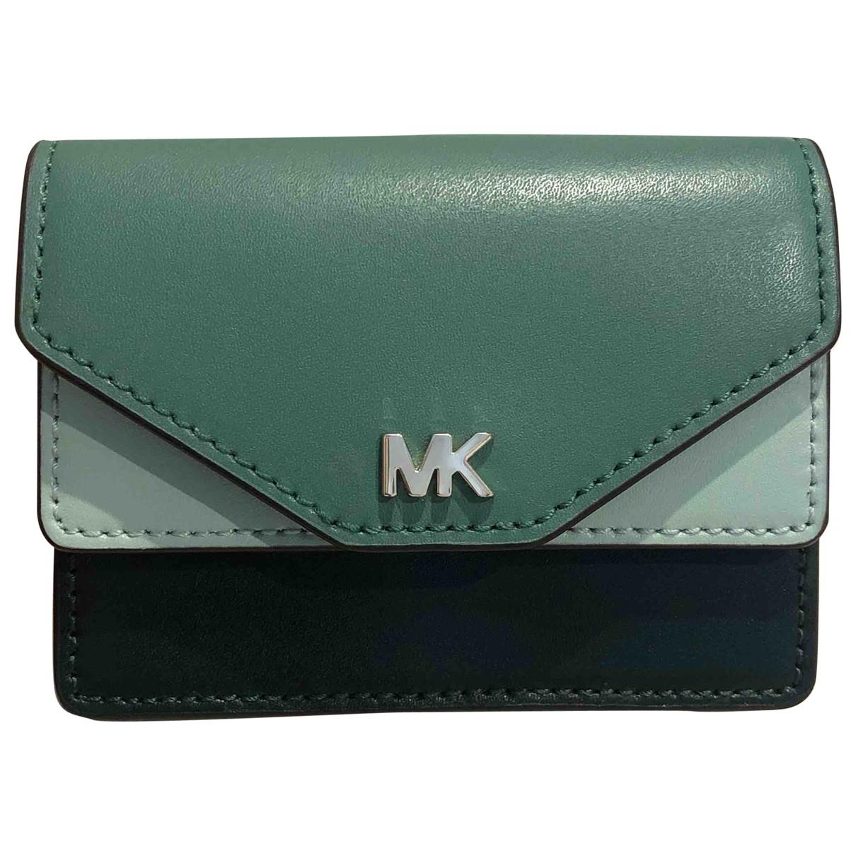 Michael Kors - Portefeuille   pour femme en cuir - vert