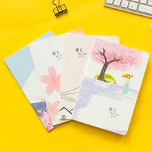 1pack Flower Print Cover Random Notebook
