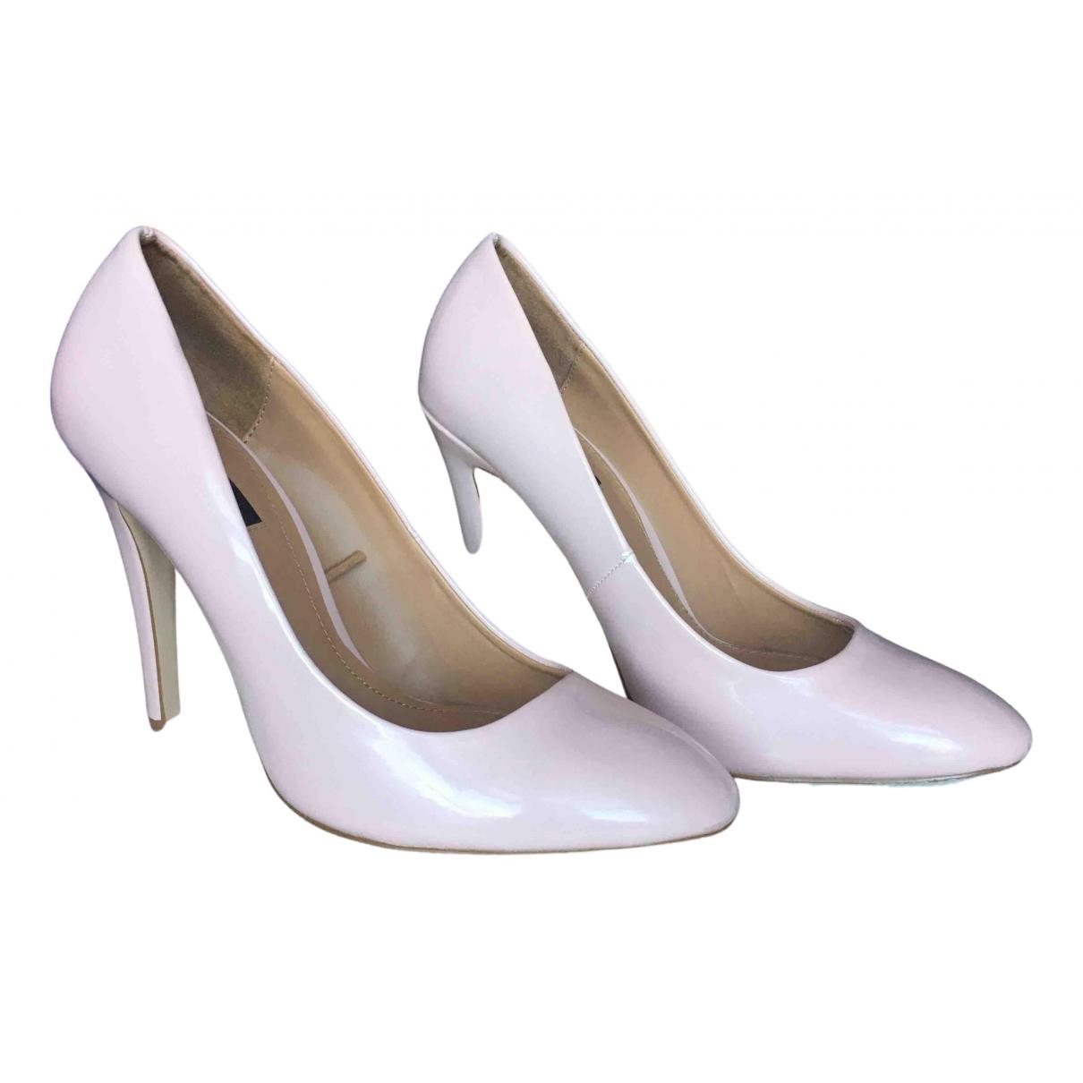 Zara - Escarpins   pour femme en cuir verni - rose