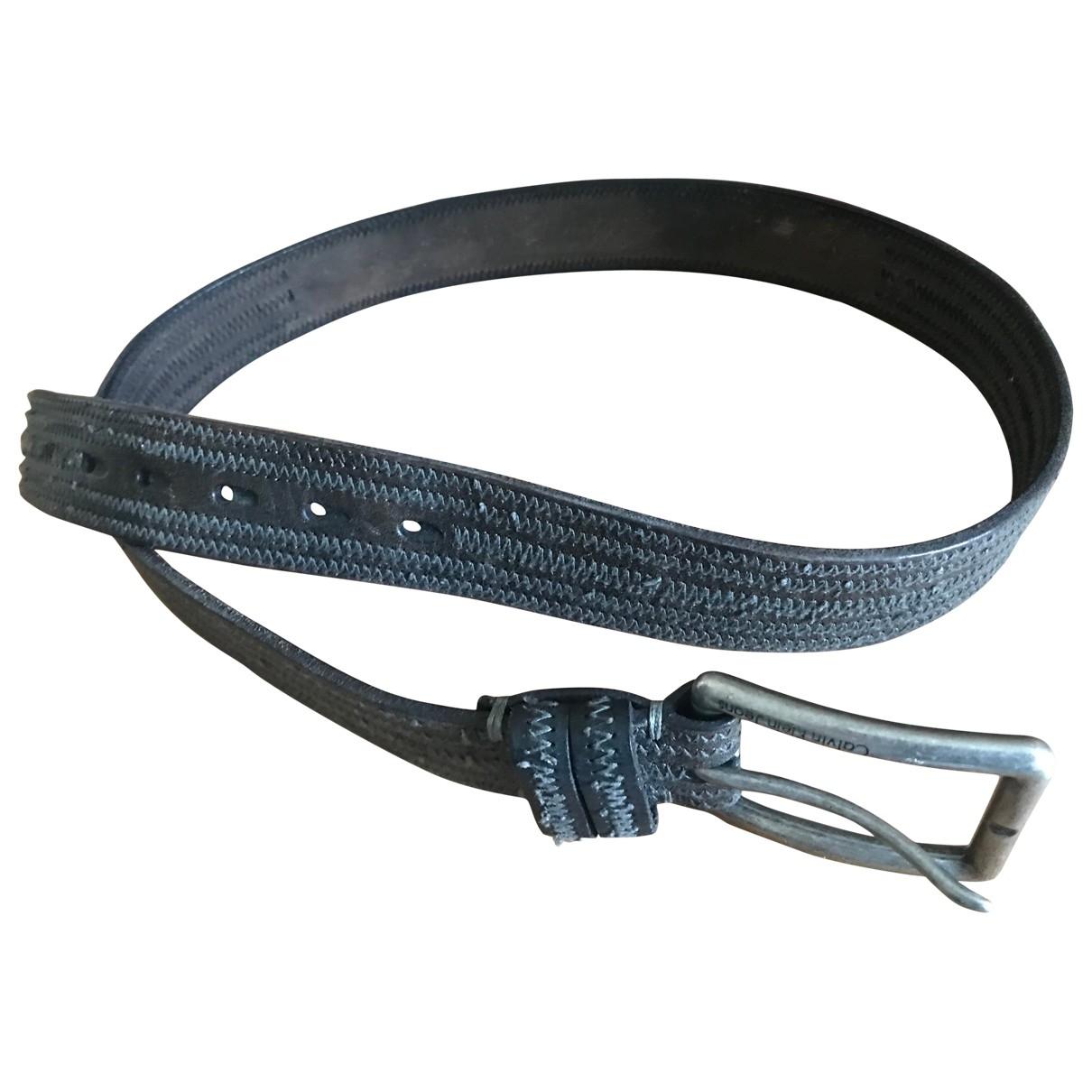 Calvin Klein \N Brown Leather belt for Men 100 cm