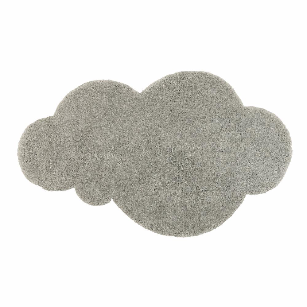 Kurzhaarteppich Wolke grau 125x200
