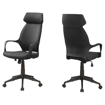 I 7249 Office Chair - Black Microfiber / High Back