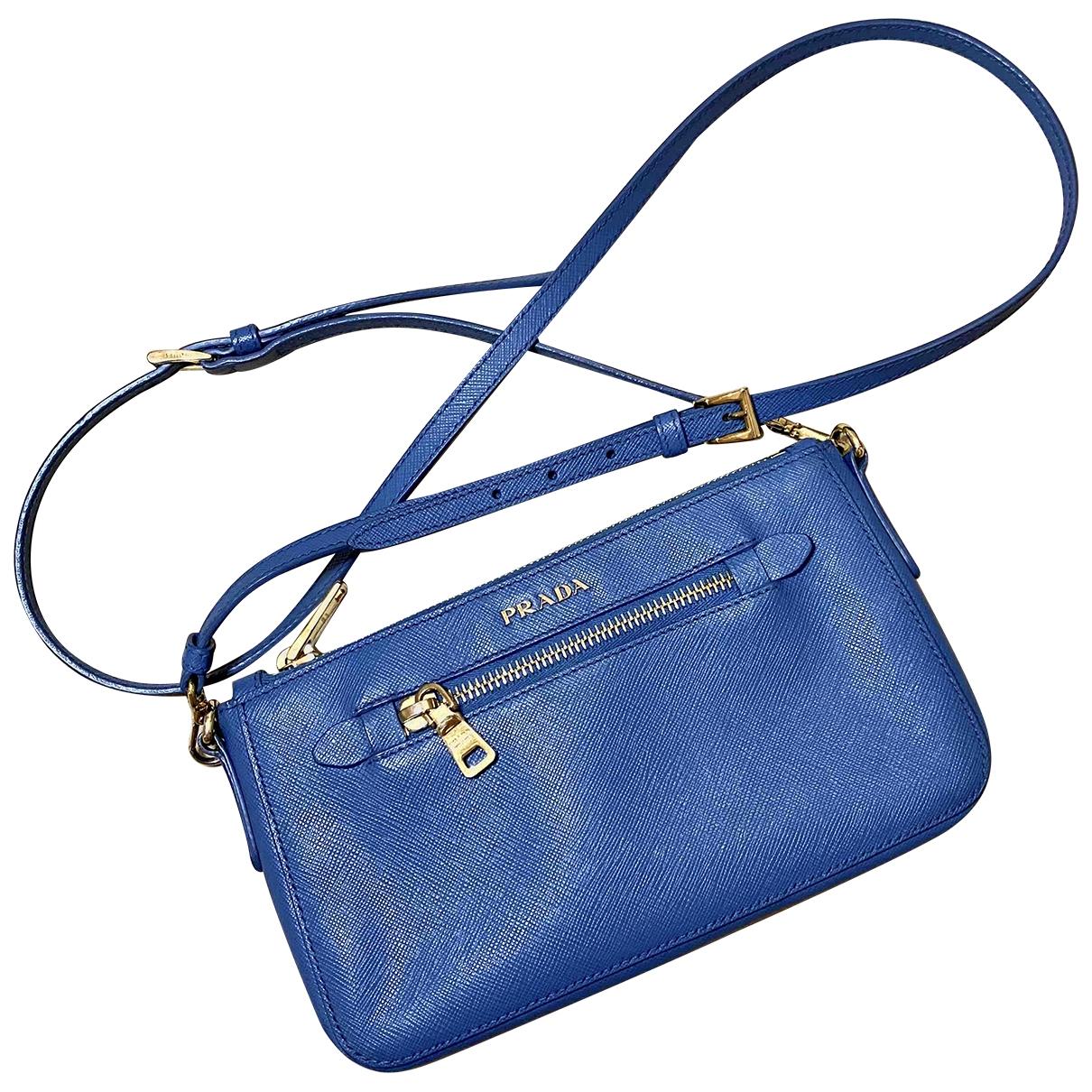 Prada \N Blue Leather handbag for Women \N