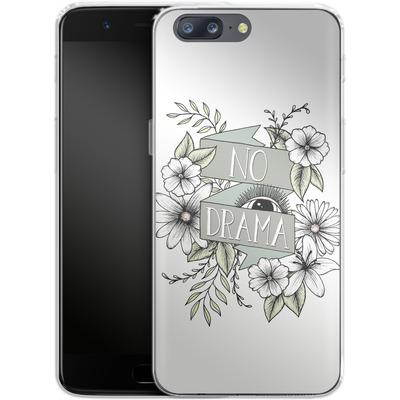 OnePlus 5 Silikon Handyhuelle - No Drama - Green von Barlena