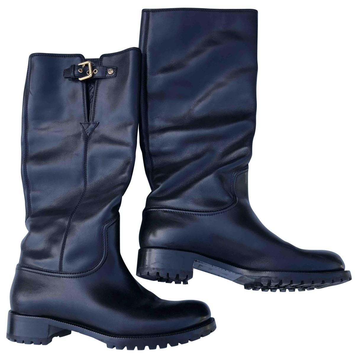 Louis Vuitton \N Black Fur Boots for Women 40.5 EU