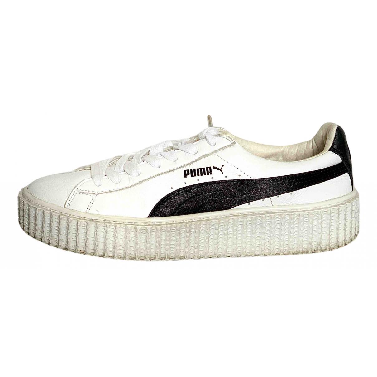 Fenty X Puma \N Sneakers in  Weiss Leder