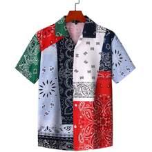 Camisas  para hombre Boton delantero Cachemira Multicolor Vacacion