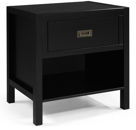 BR1DLYDNSBL 1-Drawer Classic Solid Wood Nightstand in