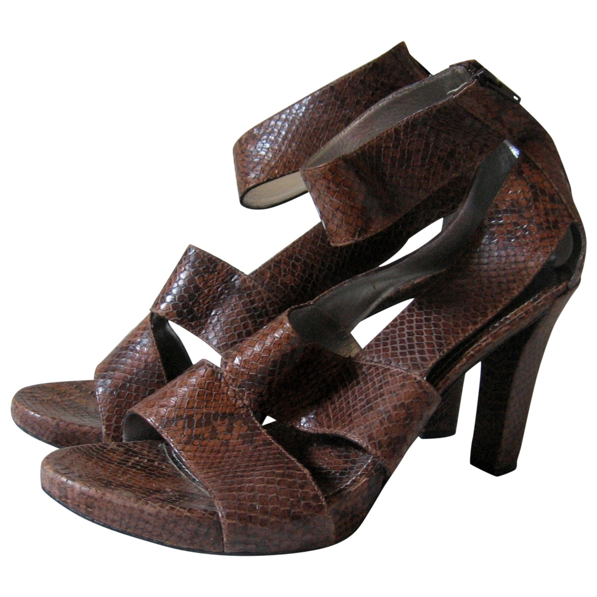 Free Lance \N Brown Leather Sandals for Women 40.5 EU