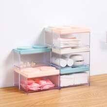 1 Stueck Zufaellige Farbe Aufbewahrungsbox am Schreibtisch aus Kunststoff