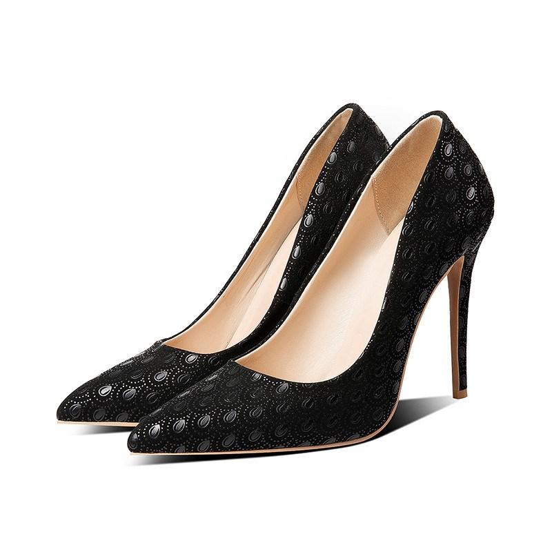 Ericdress PU Pointed Toe Slip-On Stiletto Heel Pumps