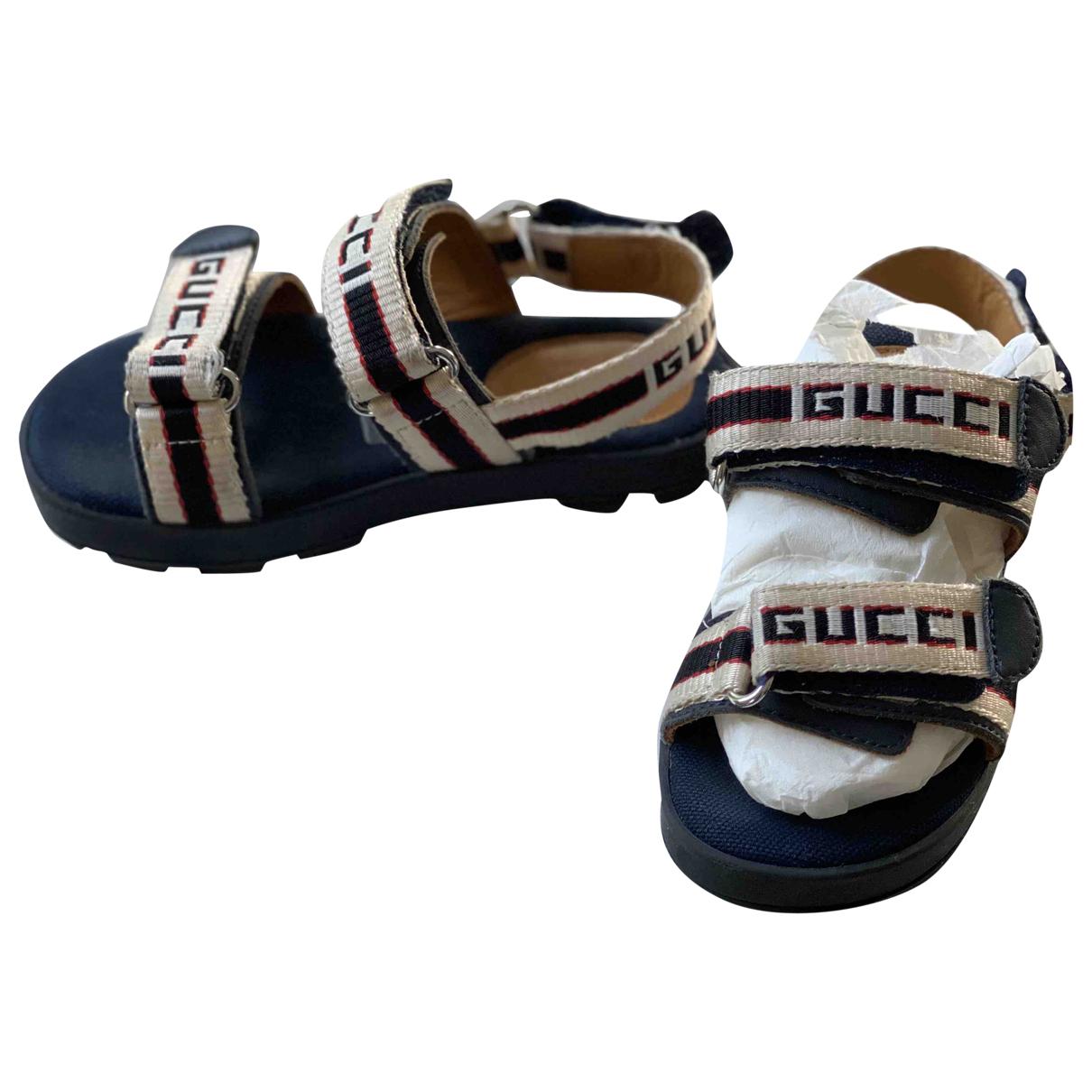 Gucci - Sandales   pour enfant en toile - beige
