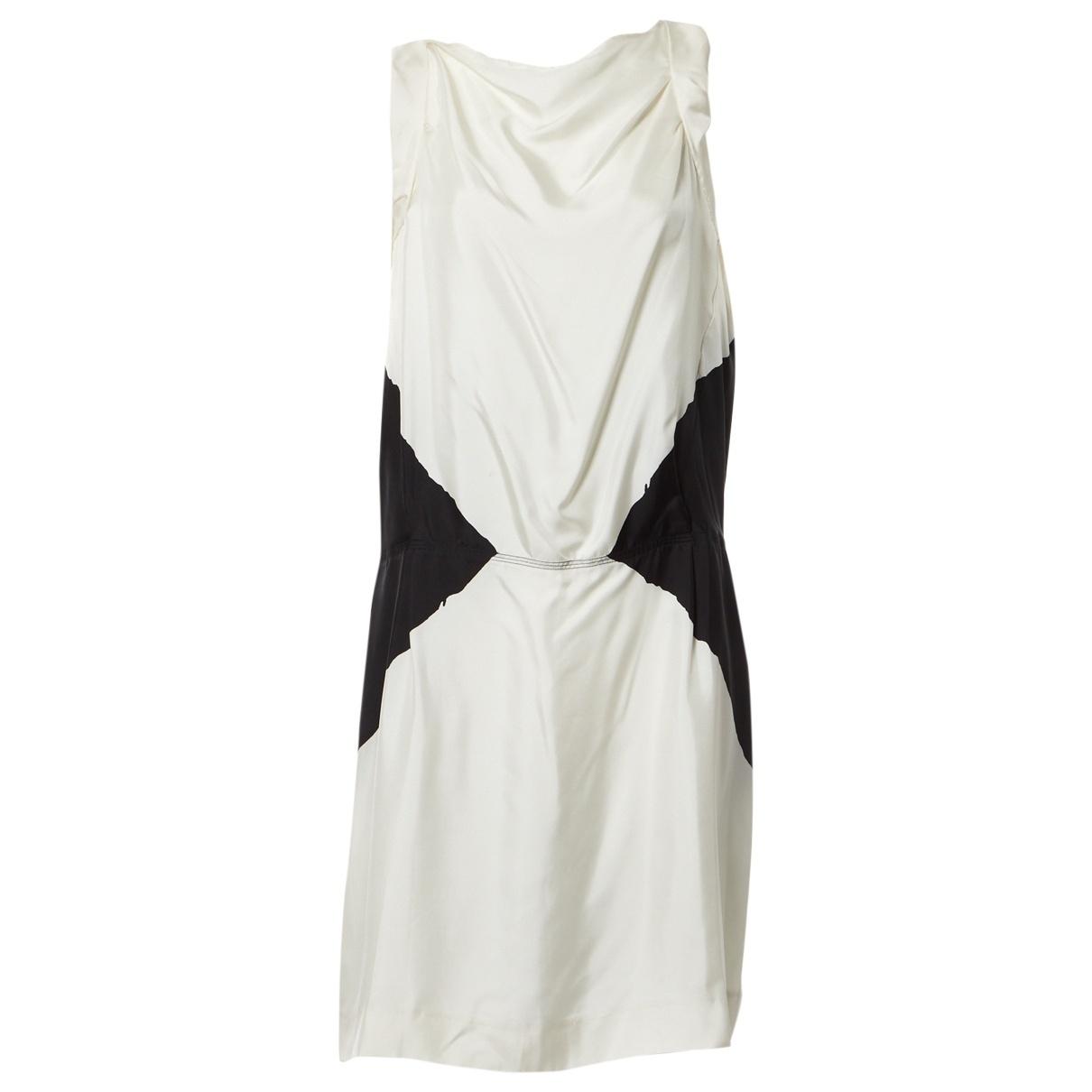 Yves Saint Laurent - Robe   pour femme en soie - blanc