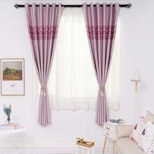 Striped Pattern Single Panel Curtain