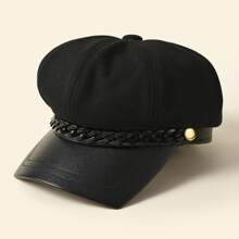 Acrylic Chain Decor Baker Boy Hat