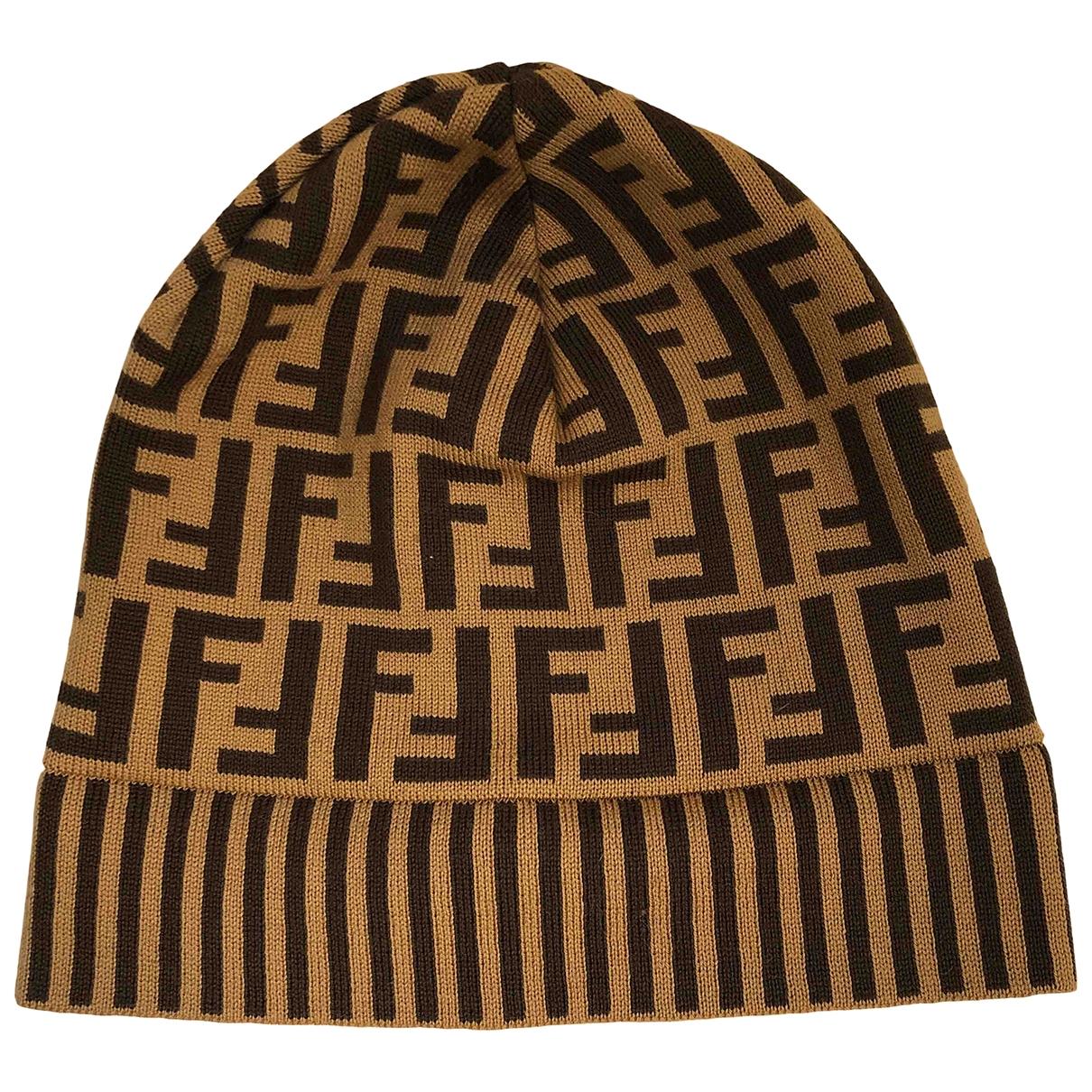 Fendi - Chapeau   pour femme en laine - marron