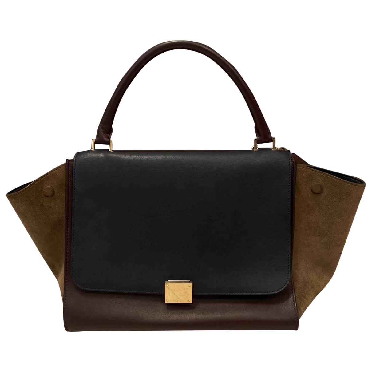 Celine Trapèze Navy Leather handbag for Women \N