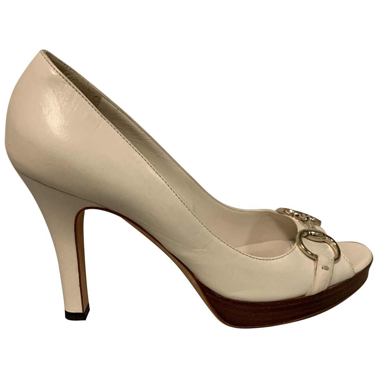 Gucci \N Beige Leather Heels for Women 38.5 EU