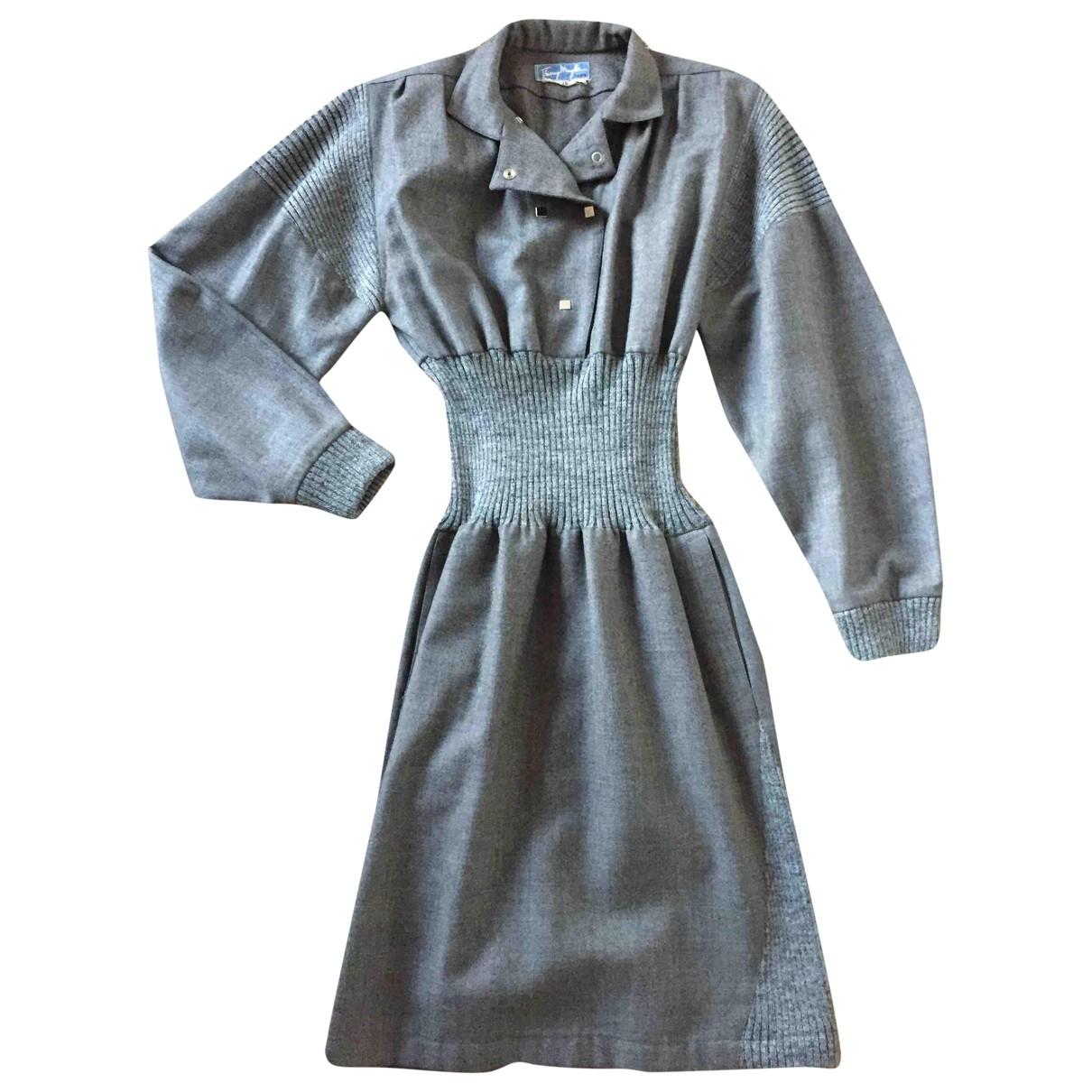 Thierry Mugler - Robe   pour femme en laine - gris