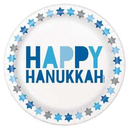 Assiettes à dessert Starry Hanukkah rond 7